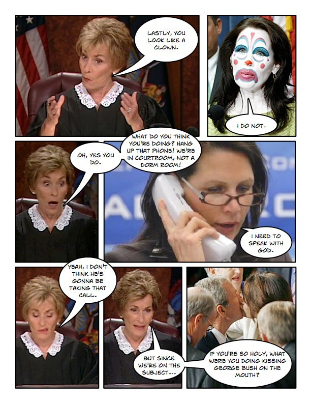 Comic Confrontations: Judge Judy Vs. Michele Bachmann