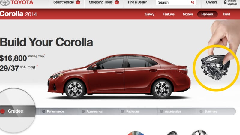 The Corolla Is So Boring Even Toyota Doesn't Know What Engine It Has