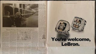 Cleveland Newspaper Rejects Heat Fans' Ad Busting On LeBron
