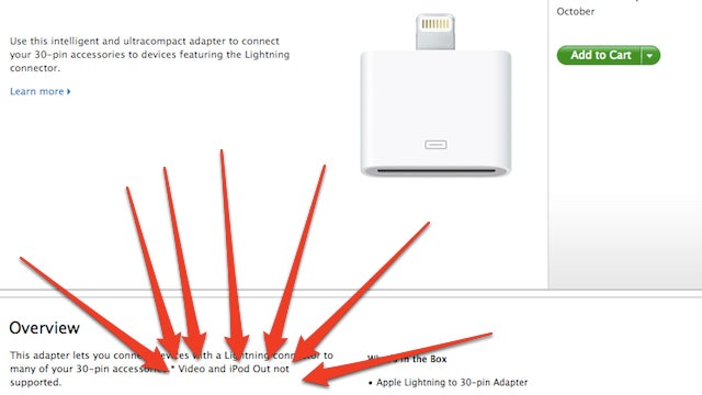 That Stupid Ass Expensive iPhone Adapter Won't Support Video and iPod Out (Updated)
