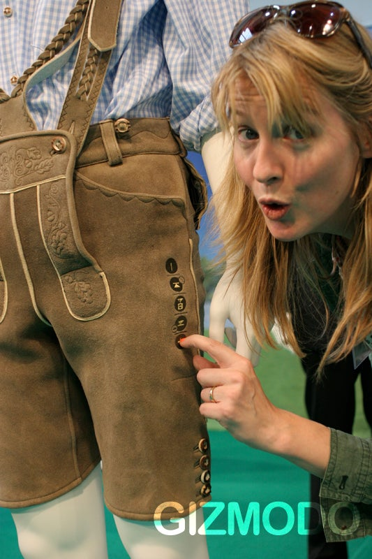 Fingers-On with the MP3 Lederhosen and Hunting Jacket