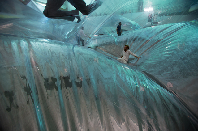 Being Trapped Inside This Giant Plastic Space Time Foam Art Installation Looks Like Out of This World Fun