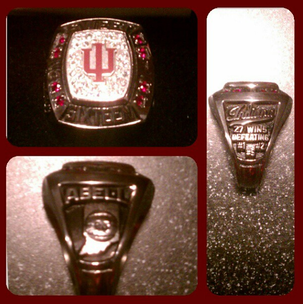 Indiana Handed Out Rings To Celebrate Its Sweet Sixteen Appearance