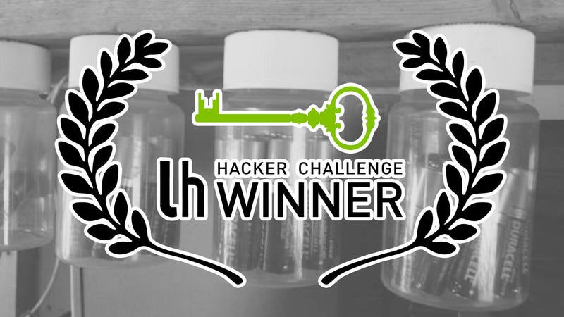 Challenge Winner: Hang Your Batteries for Easy Storage