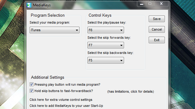 MediaKeys Turns Regular Keys on Your Keyboard into Full-Featured Media Keys