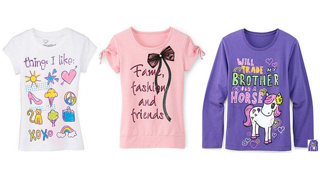 Young Girls' T-Shirt Inventory Isn't Looking Good