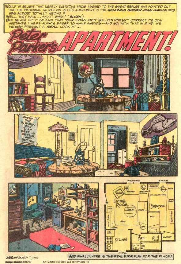Vintage Spider-Man maps lay out the geography of Peter Parker's life