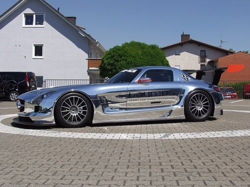 Chrome Mercedes SLS AMG GT3