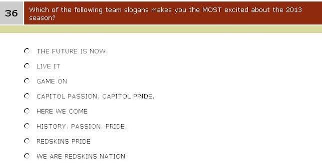 Redskins Survey Fans On Team Name, Favorite Marketing Buzzwords