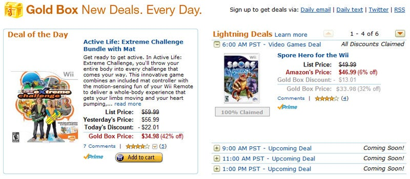Amazon Gold Boxes Wii Games All Day Long
