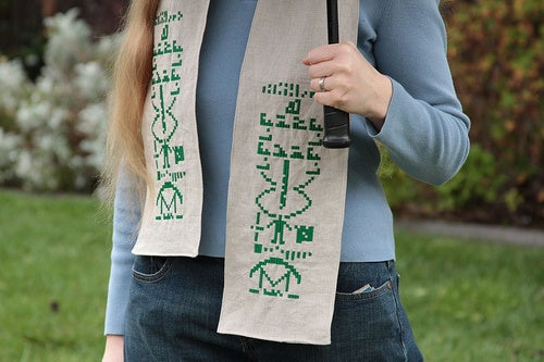 Project Of The Day: Embroider Your Own SETI Scarf