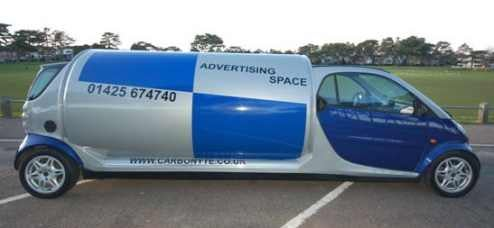 Smaaart ForTwo Stretched Into Moving Billboard