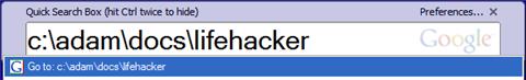 Google Desktop Quick Tip: Open any directory in Explorer