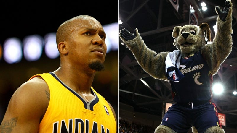 The Cavaliers' Mascot Had To Go To The Hospital Because David West Punched Him In The Eye