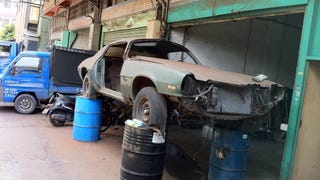 Taiwanese graveyard of old US musclecars