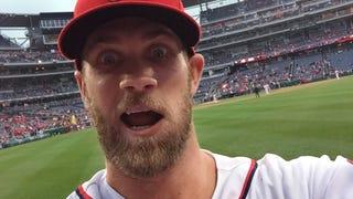 Bryce Harper Took A Selfie With A Fan's Phone