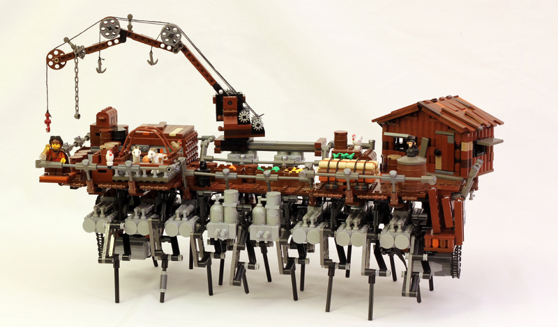 This Walking Lego Steampunk Ship is Terrifying!