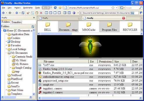 Firefly Turns Firefox into a Local File Manager
