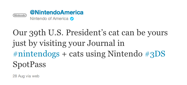Cat-Killing Jimmy Carter and Nintendo's Strange Offer
