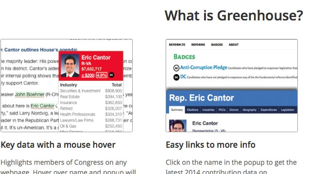 Greenhouse Extension Gives You Details on Members of Congress