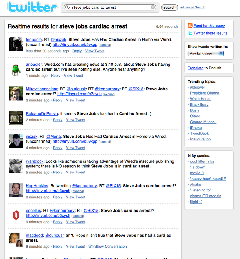 Wired's Image Viewer Used to Spread False News on Steve Jobs Heart Attack