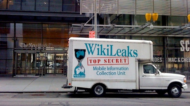 NYPD 'Loses' the Occupy Wall Street Wikileaks Truck