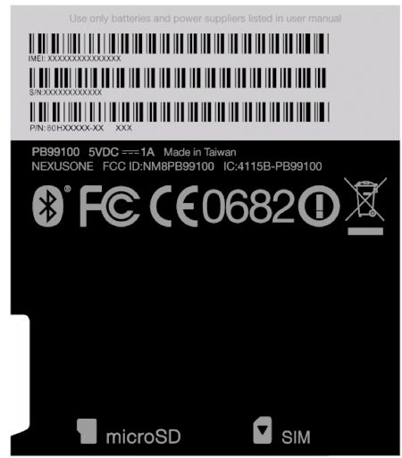 Google Nexus One Phone Gets FCC Detailing