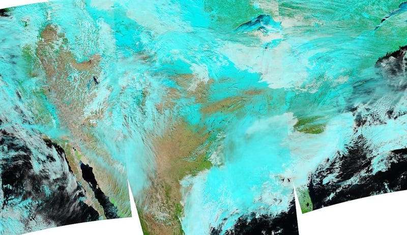 Beautiful Satellite Image Shows United States Caked in Snow & Ice