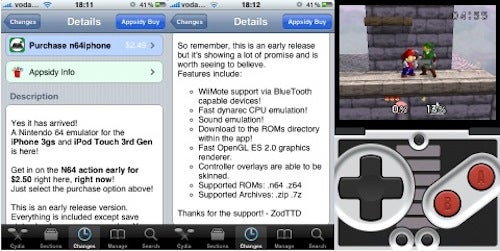 N64 Emulator Hits Jailbroken iPhones, With Bluetooth Wiimote Support