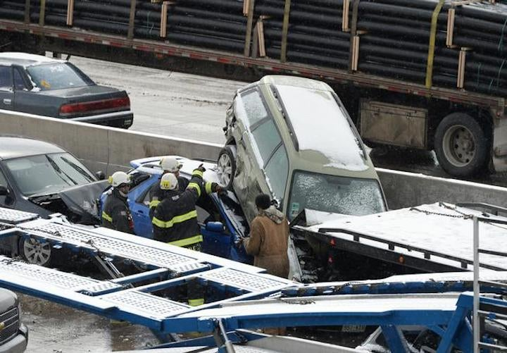 Insane Images From Yesterday's 104-Car Pileup in Denver