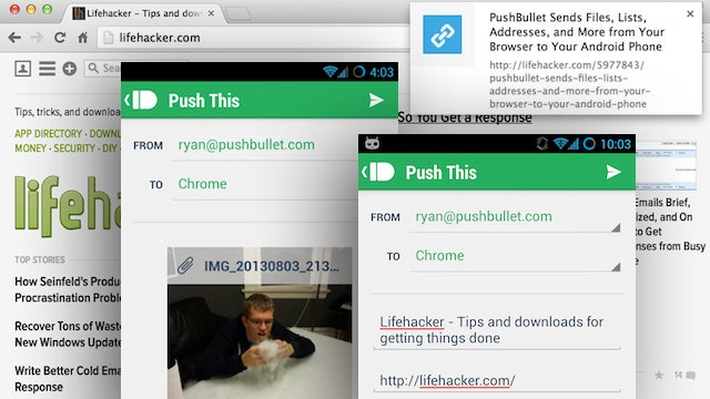 PushBullet Sends Links, Files, Notes and More to Chrome from Android