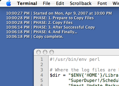 Monitor your SuperDuper! Mac backups with GeekTool