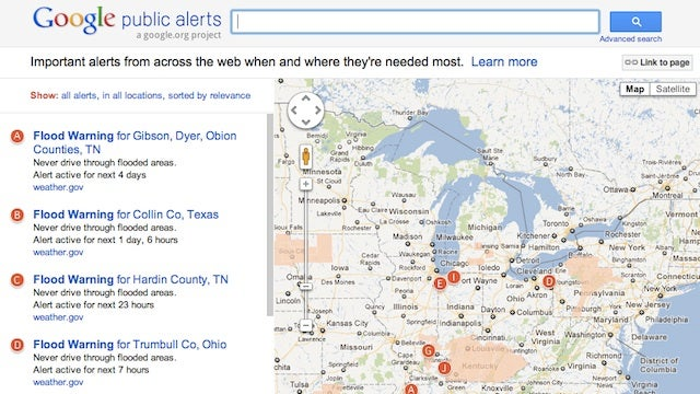 Google Maps Adds Public Safety Alerts to Search Results