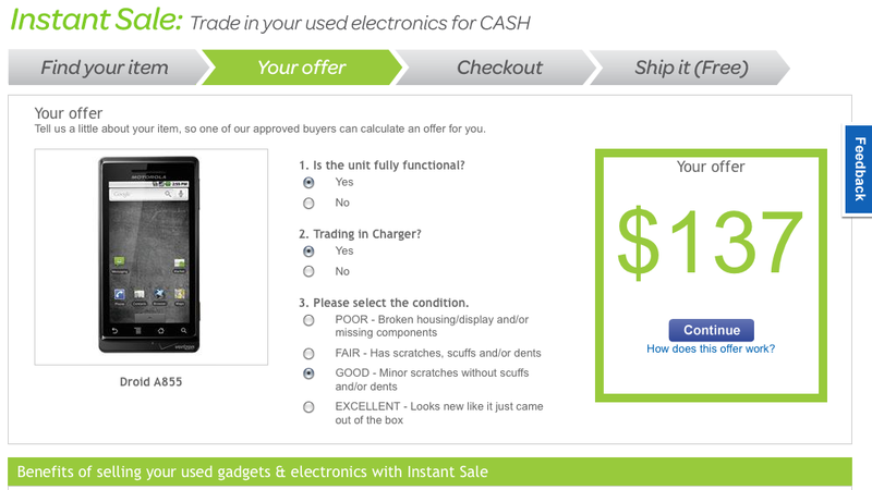 eBay Instant Sale Buys Your Old Gadgets in Just a Few Clicks