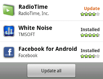 Android Market Updates Arriving for Non-Froyo Phones
