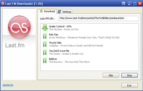 Last.FM Downloader Lets You Download Last.FM Streams and Cover Art