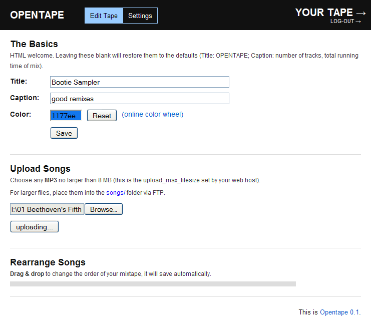 Host Your Own Music Playlist with Opentape