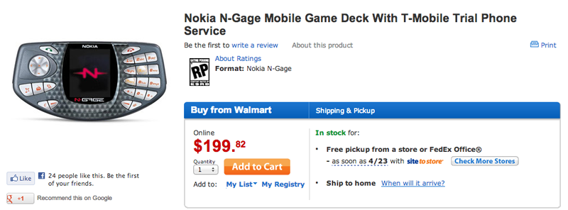 Forget the Gameboy, the N-Gage is quickly becoming one of the longest lived game systems!