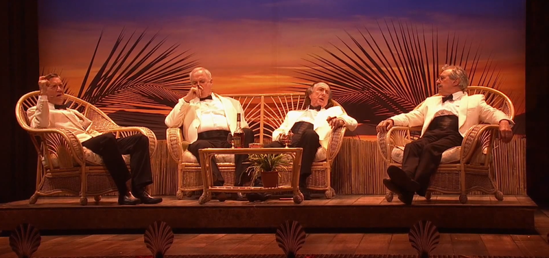 Watch a sneak preview of the new Monty Python show opening tonight