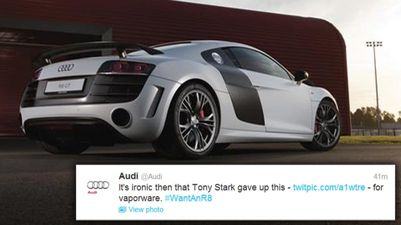 Audi Calls Acura's New Hybrid NSX Sports Car 'Vaporware' On Twitter