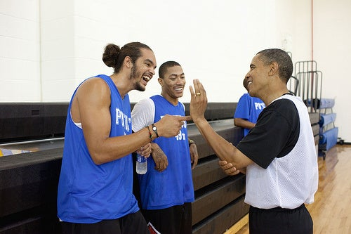 Obama Hosts White House Basketball Game Full of Past and Present All Stars