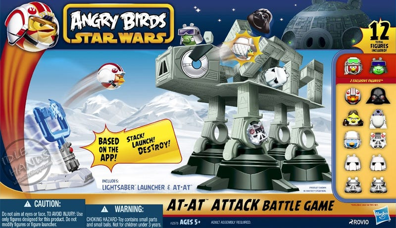 Smash an AT-AT Full of Pigs in the Angry Birds/Star Wars Toy Line