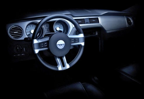 New 2010 Ford Mustang Teaser Shot Reveals The Full Dash