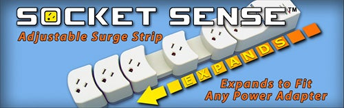 Socket Sense Power Strip Has the Sense to Slide
