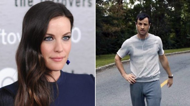 Liv Tyler Is Distracted by Justin Theroux's Penis Bulge