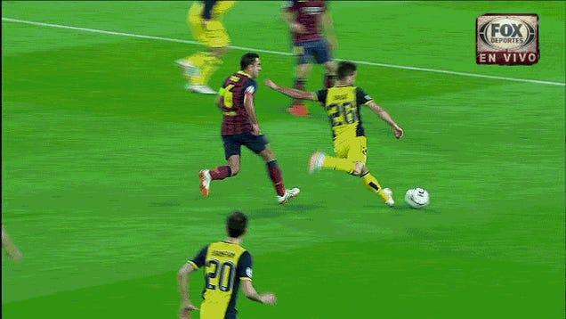 Watch The Stunning Champions League Strike That Put Atléti Up On Barça