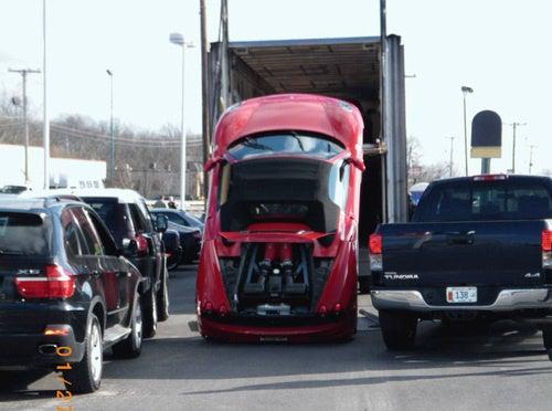 Ferrari F430 Spyder Delivery: Accident Photos