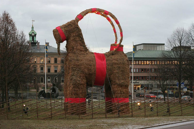 Swedish Christmas Goat Burned Down for 27th Time