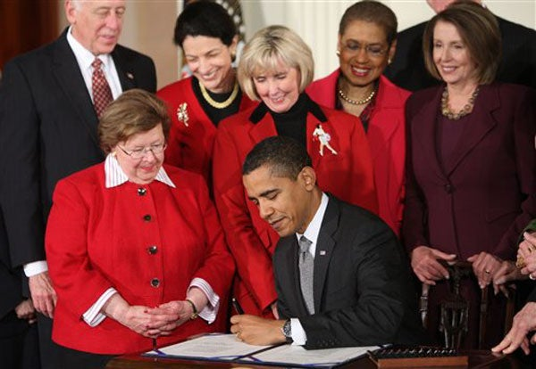 Equal Pay: A President, A Pen And Awesomely Persistent Women