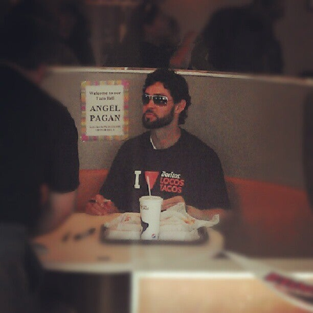 Angel Pagan Stopped By A Bay Area Taco Bell Today